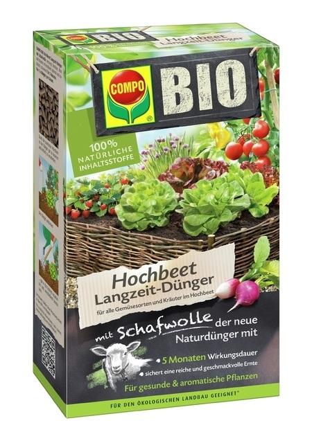 COMPO COMPO BIO Hochbeet Langzeit-Dünger mit Schafwolle 750 g
