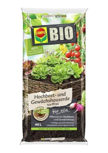 COMPO COMPO BIO Hochbeet- und Gewächshauserde 40 L