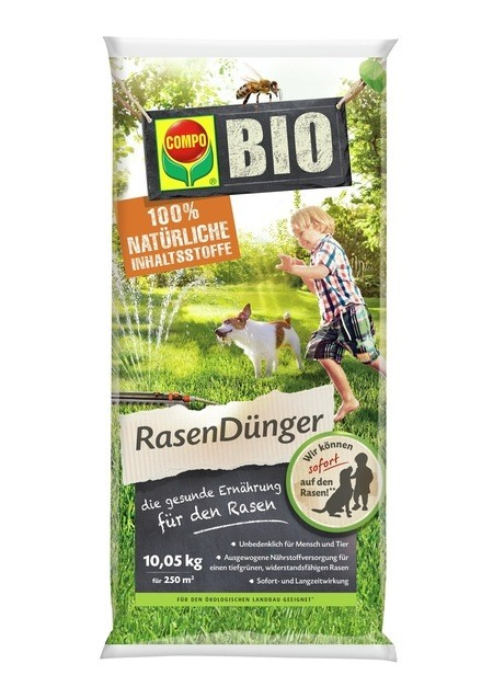 COMPO COMPO BIO NaturDünger für Rasen 10,05 kg für 250 m²