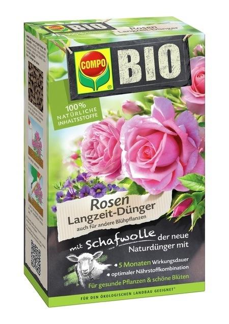 COMPO COMPO BIO Rosen Langzeit-Dünger mit Schafwolle 750 g