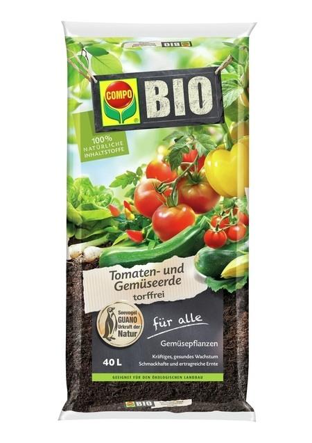 COMPO COMPO BIO Tomaten- und Gemüseerde torffrei 40 L