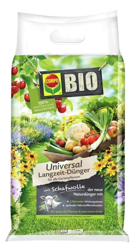 COMPO COMPO BIO Universal Langzeit-Dünger mit Schafwolle 4 kg