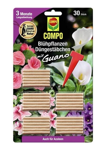 COMPO COMPO Blühpflanzen Düngestäbchen mit Guano (30 Stäbchen)