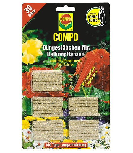 COMPO COMPO Düngestäbchen Balkon & Terrasse,30 St.