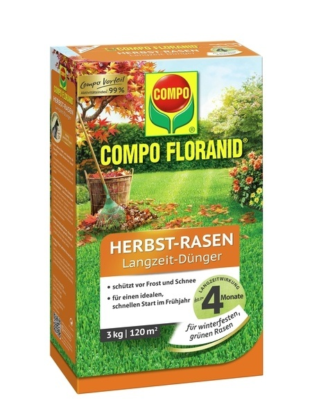 Compo COMPO FLORANID® Herbst-Rasen Langzeit-Dünger 3 kg für 120 m²