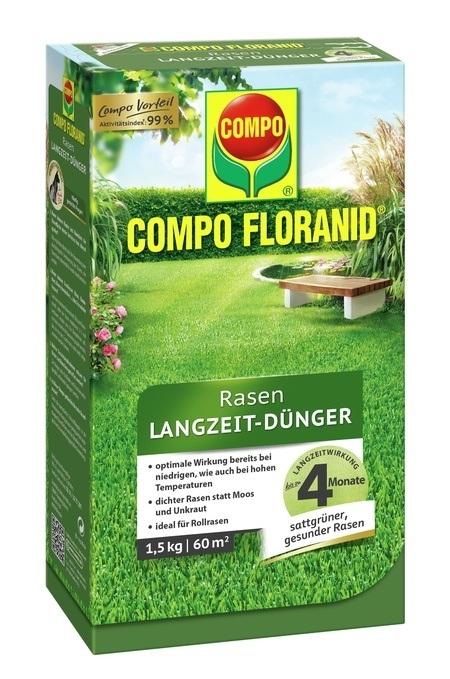 Compo COMPO FLORANID® Rasen Langzeit-Dünger 1,5 kg für 60 m²