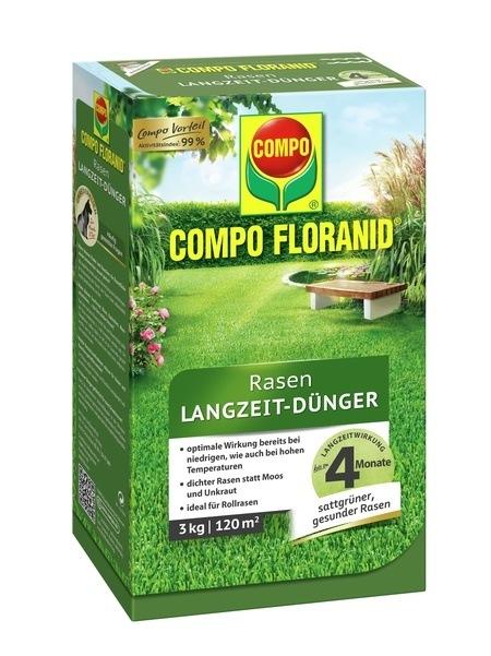 Compo COMPO FLORANID® Rasen Langzeit-Dünger 3 kg für 120 m²