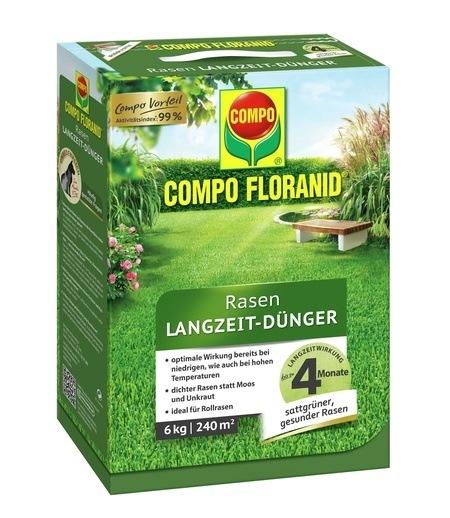 Compo COMPO FLORANID® Rasen Langzeit-Dünger 6 kg für 240 m²