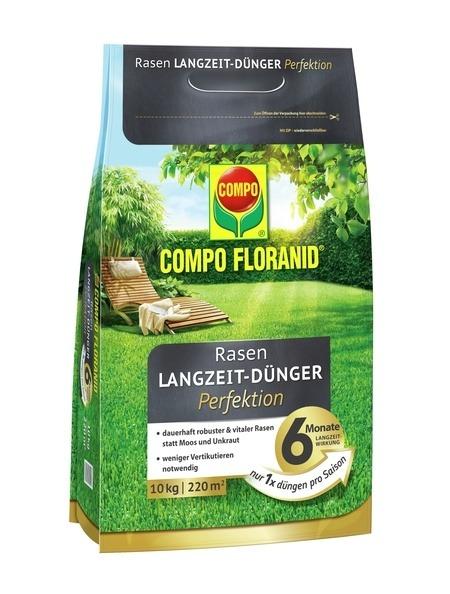 Compo COMPO FLORANID® Rasen Langzeit-Dünger Perfektion 10 kg für 220 m²