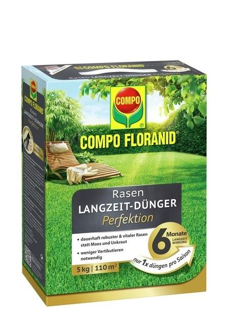 Compo COMPO FLORANID® Rasen Langzeit-Dünger Perfektion 5 kg für 110 m²