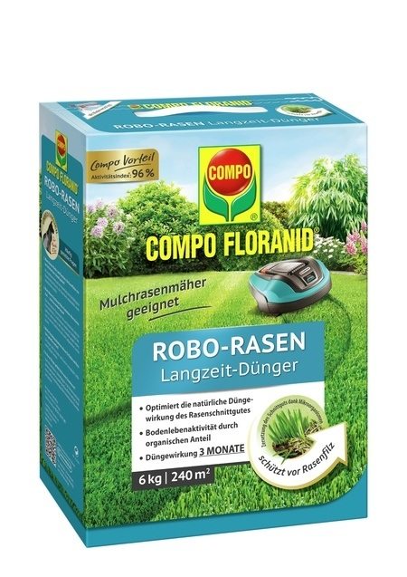 Compo COMPO FLORANID® Robo-Rasen Langzeit-Dünger 6 kg für 240 m²