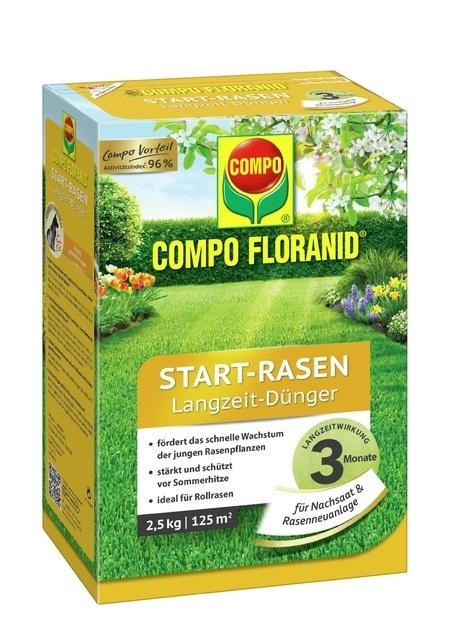 COMPO COMPO FLORANID® Start-Rasen Langzeit-Dünger 2,5 kg für 125 m²