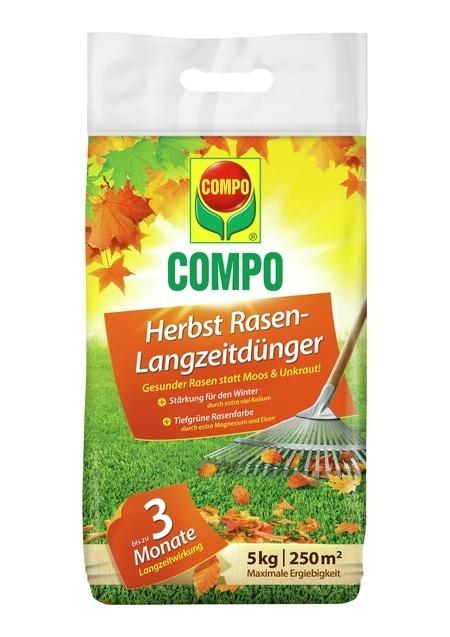 Compo COMPO Herbst Rasen-Langzeitdünger 5 kg für 250 m²