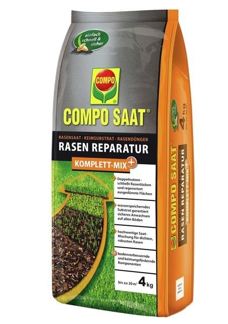 COMPO COMPO SAAT® Rasen-Reparatur Komplett Mix+ 4 kg für bis zu 20 m²