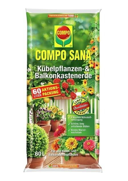 COMPO COMPO SANA® Kübelpflanzen- und Balkonkastenerde 60 L