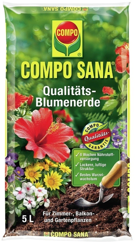 COMPO COMPO SANA® Qualitäts-Blumenerde 5 L