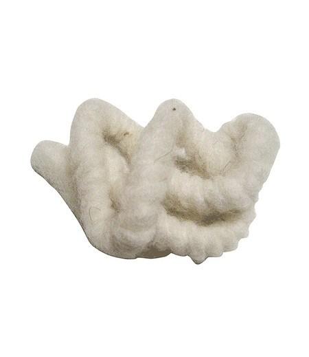 """Daemwool Wollkordel aus Schafwolle """"naturweiß"""" 3 m,1 Stück"""