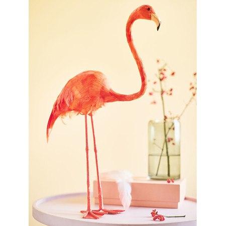 Deko-Figur Flamingo Koralle