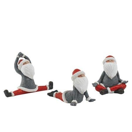 Deko-Figuren-Set, 3-tlg. Yoga Santa