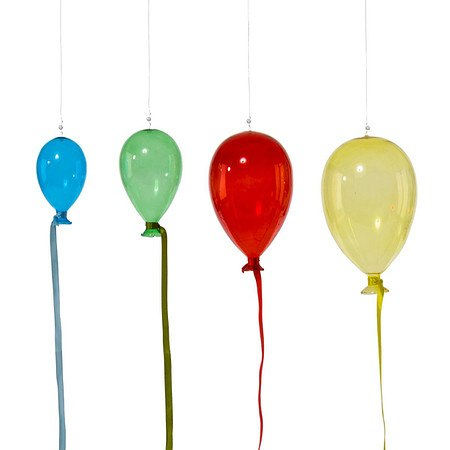 Dekohänger-Set Bunte Luftballons, 4-tlg.