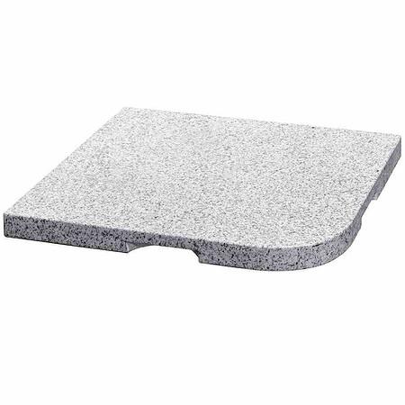 DELSCHEN Granitplatte 25 kg, grau, 48x48x4 cm