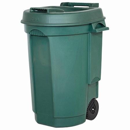 EDA Fahrbarer Abfallbehälter 110LFarbe: grün, Maße: 55x58x81cm