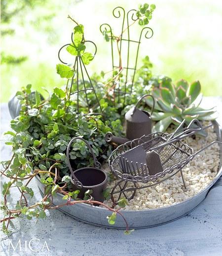 Edelman Mini-Garten Starter-Set braun 8-teilig,1 Set