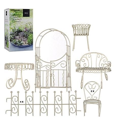 Edelman Mini-Garten Starter-Set weiß 10-teilig,1 Set