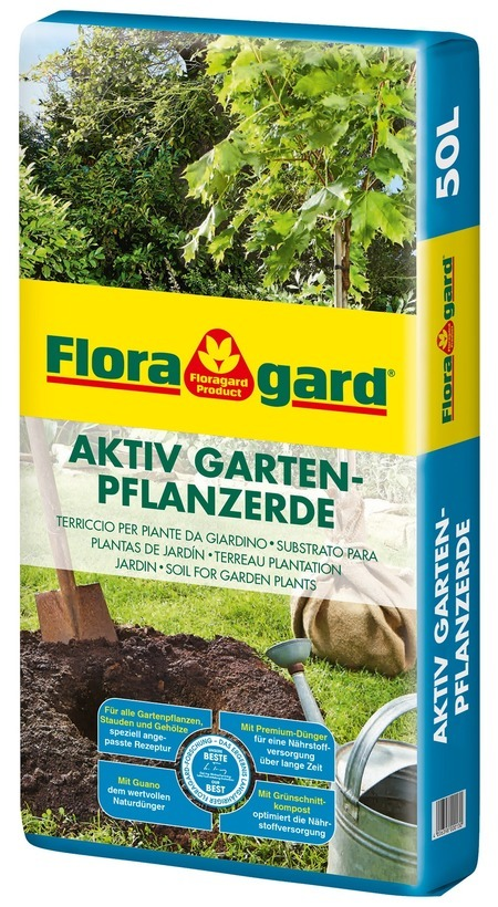 Floragard Aktiv Gartenpflanzerde 50 L