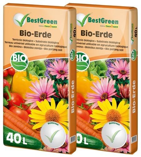 Floragard Best Green Bio Blumenerde 2x40L