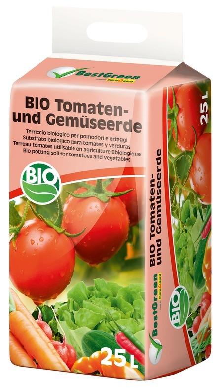 Floragard Best Green Bio Tomaten- und Gemüseerde 25L