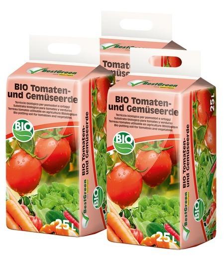 Floragard Best Green Bio Tomaten- und Gemüseerde 3X25L