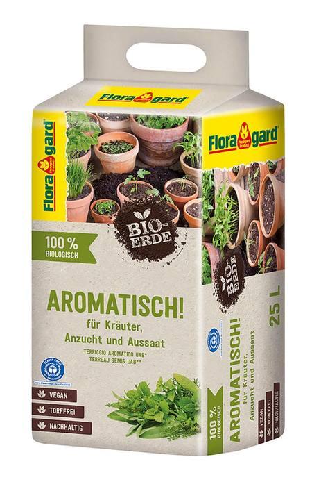 Floragard Bio-Erde Aromatisch torffrei 1x25L