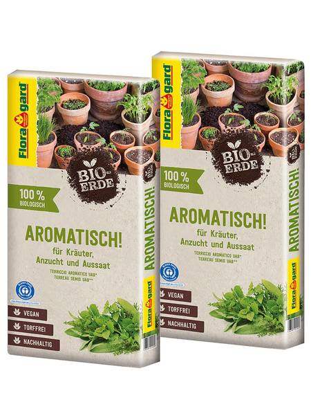 Floragard Bio-Erde Aromatisch torffrei 2x40L