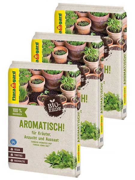 Floragard Bio-Erde Aromatisch torffrei 3x10L