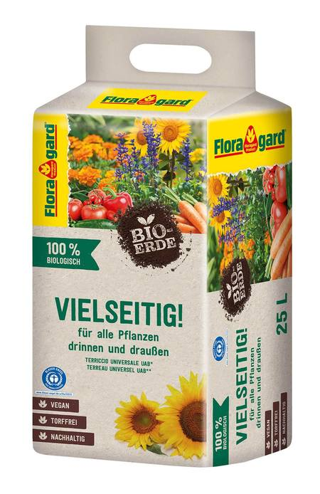 Floragard Bio-Erde Vielseitig ohne Torf 1x25L