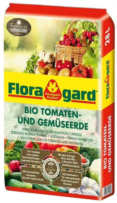Floragard Bio Tomaten- und Gemüseerde torfreduziert 1 x 28L