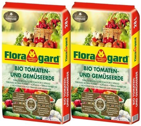 Floragard Bio Tomaten- und Gemüseerde torfreduziert 28L, 2 x 28L