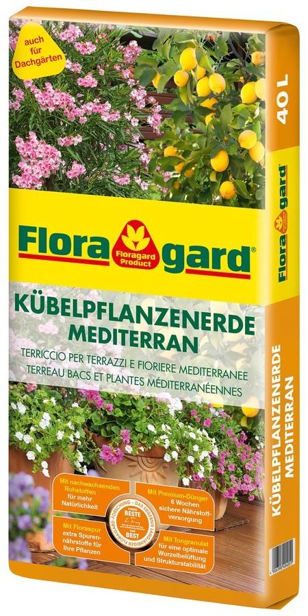 Floragard Kübelpflanzenerde mediterran 1x40L