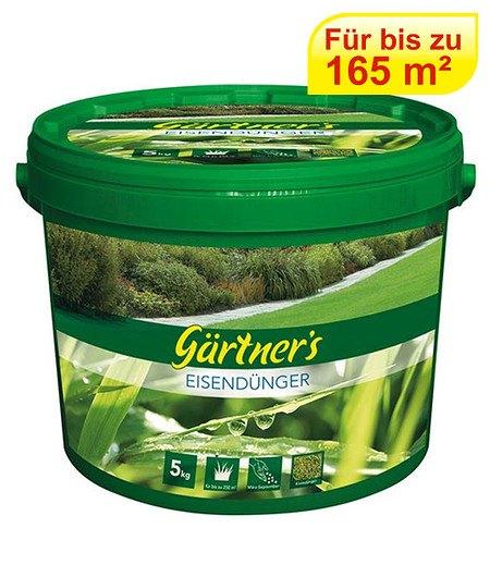 Gärtner's Eisendünger für Rasen gegen Moos,5 kg