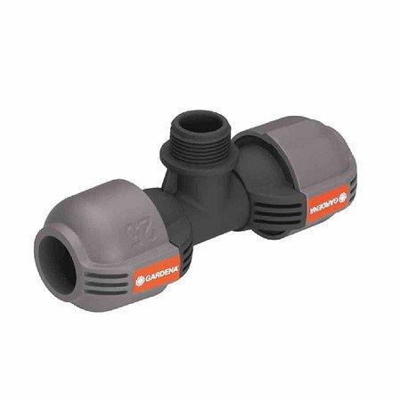 """GARDENA Sprinkler-System T-Stück, Außengewinde 19mm(¾""""), 25mm, Quick&Eas"""