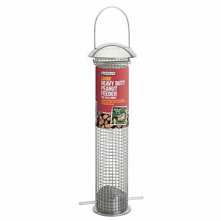 GARDMAN Vogelfuttersäule für Erdnüsse schwere Metallausführung