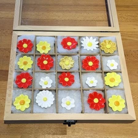 Geschenkset Keramikblumen Frühling, 20 Stück