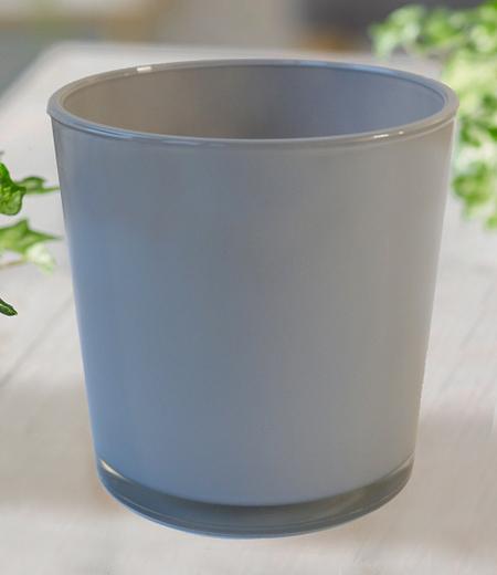 """Glas-Übertopf ø 19 cm """"grau"""",1 Stück"""