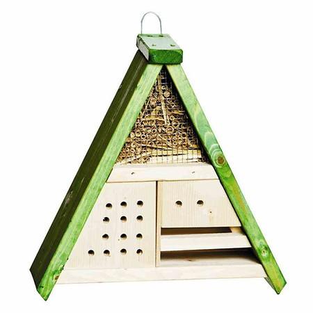 H.G-VOGEL Insektenhotel Nr. 315, Farbe: natur-grün Maße: 31x13x32cm