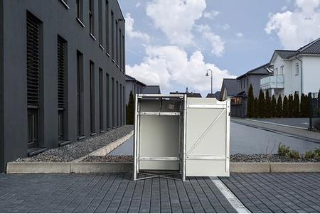 Hide Mülltonnenboxen Mülltonnenbox 140l Alu-Verbund1er Box, 60,4x 63,4x 115,2 cm (BxTxH)