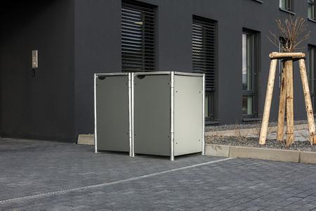 Hide Mülltonnenboxen Mülltonnenbox 140l Alu-Verbund2er Box, 121x 63,4x 115,2 cm (BxTxH)