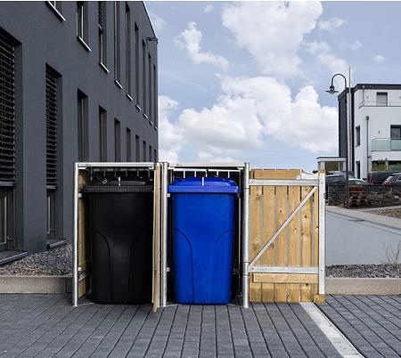 Hide Mülltonnenboxen Mülltonnenbox 140l Holz2er Box, 121x 63,4x 115,2 cm (BxTxH)
