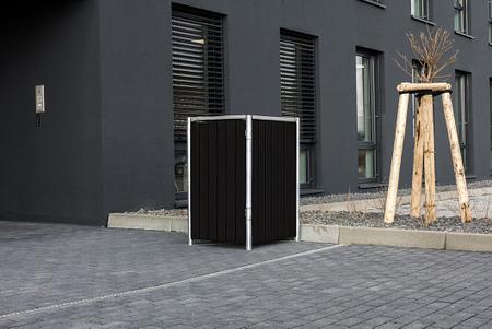 Hide Mülltonnenboxen Mülltonnenbox 240l Alu-Verbund1er Box, 69,7x 80,7x 115,2 cm (BxTxH)