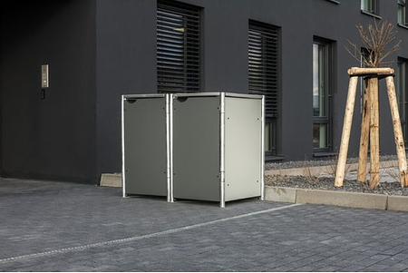 Hide Mülltonnenboxen Mülltonnenbox 240l Alu-Verbund2er Box, 139,4x 80,7x 115,2 cm (BxTxH)